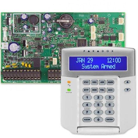 Placa Central de Alarme 8 Zonas Expansível até 192 Zonas EVO 192 Com Teclado Digiplex K641+ Paradox