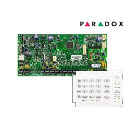 Placa Central de Alarme 5 Zonas Expansíveis até 32 Zonas Spectra SP5500 Com Teclado K10H Paradox