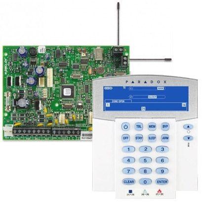 Placa Central de Alarme 32 Zonas Sem Fio de 433MHz ou 868MHz Magellan MG 5000 Com Teclado Sem Fio K37 Paradox