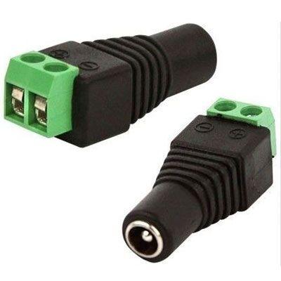 Conector P4 Femea (borne) para CFTV - Embalagem com 10 unidades