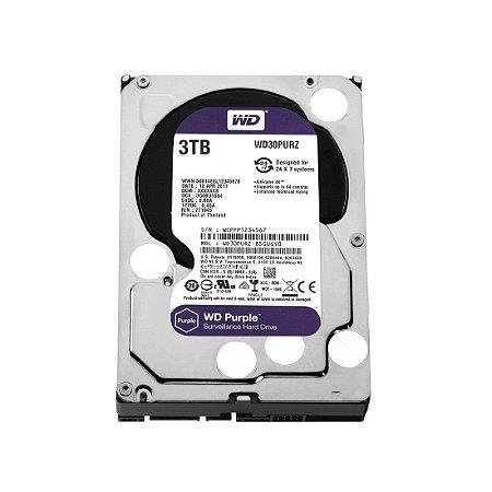 Hd Interno 3tb 3000gb Western Digital Purple Sataiii 64mb Wd30purx