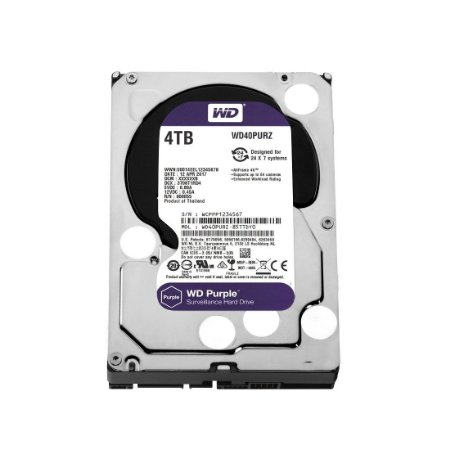 Hd Interno 4tb 4000gb Western Digital Purple Sataiii 64mb Wd40purx