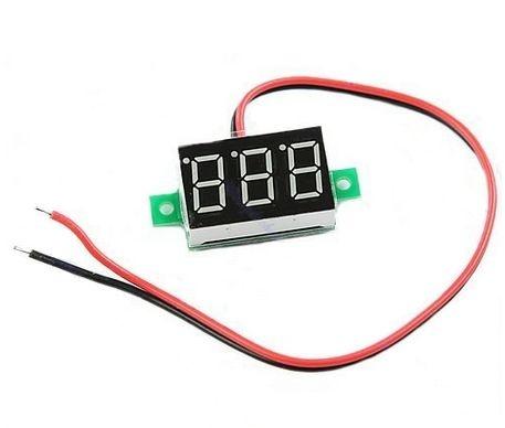 Voltímetro Digita Del Led 4,5 - 30 Volts Dc Medidor Bateria