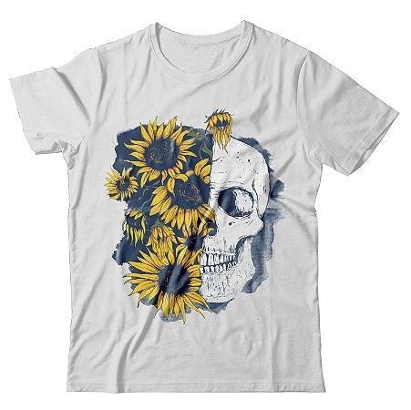 Camiseta Caveira e Girassol
