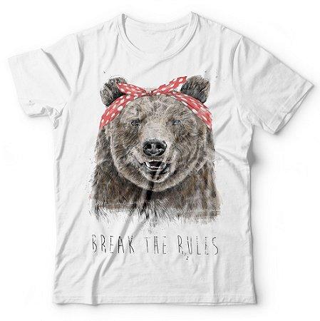 Camiseta Urso Break The Rules