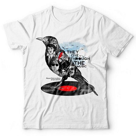 Camiseta Corvo Famosos do Rock