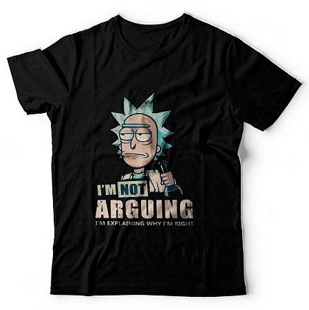 Camiseta Não Estou Argumentando Estou Explicando Porque Estou Certo