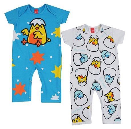Kit Pijama Macacão Pintinhos - GET BABY