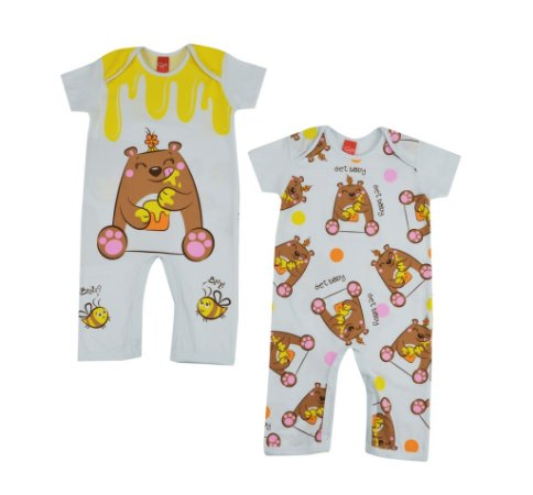Kit Pijama Macacão Ursa Mel - GET BABY