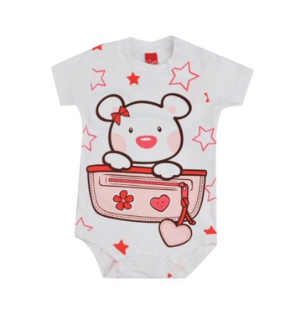 Body Manga Curta Ursa Star - GET BABY