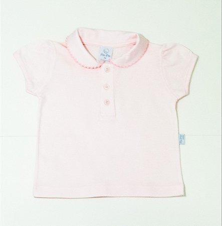 Camisa Pólo Menina Rosa Bebê - PIU PIU