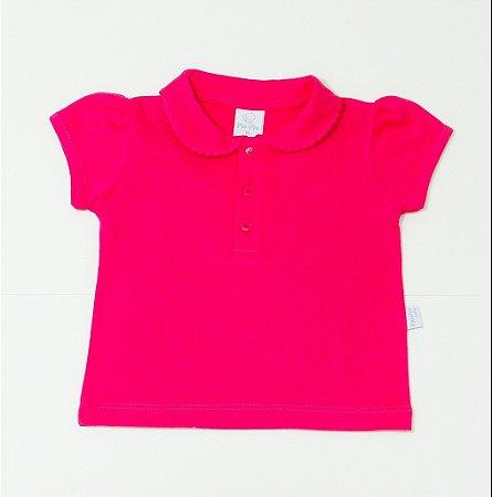 Camisa Pólo Menina Pink - PIU PIU