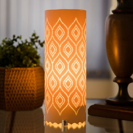Luminária de mesa decorativa - Geométrica - Ondulada