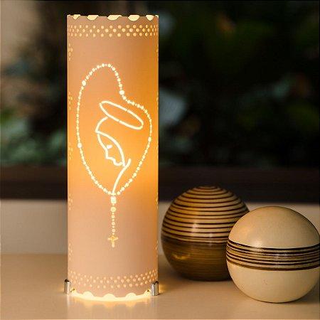 Luminária de mesa decorativa - Terço Nossa Senhora