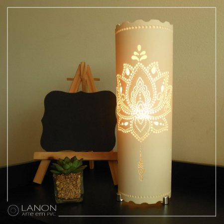 Luminária de mesa decorativa - Flor de Lótus