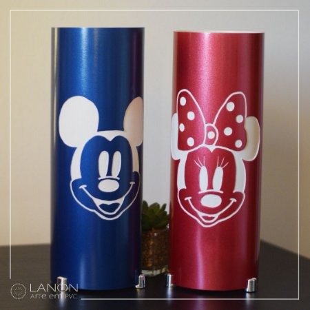 Kit Luminária de mesa - Mickey Azul e Minnie Mouse