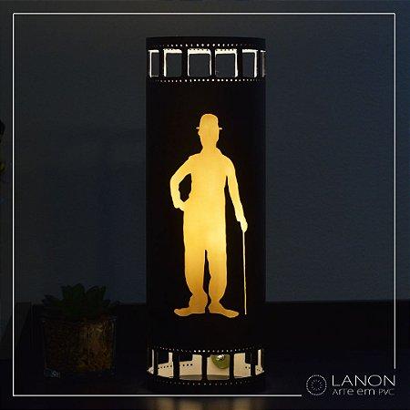 Luminária de Mesa decorativa - Charles Chaplin - The Tramp