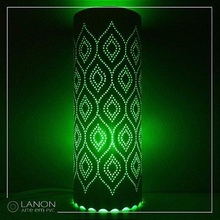 Luminária de mesa decorativa - Geométrica - Ondulada Verde