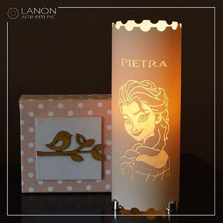 Luminária de mesa decorativa - Elsa - Frozen