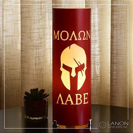 Luminária de mesa decorativa - Capacete/Elmo Espartano