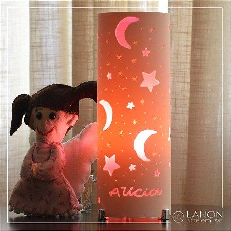 Luminária de mesa decorativa - Lua e Estrela