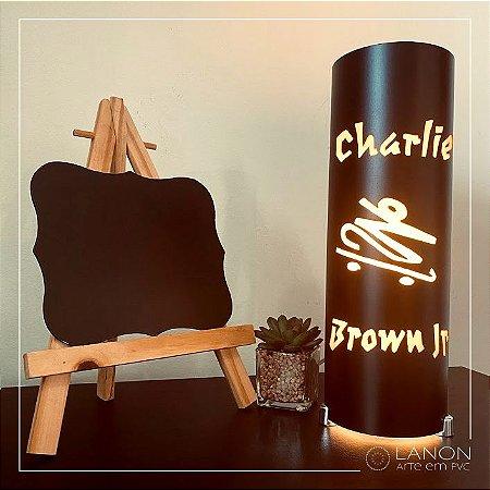 Luminária de mesa decorativa - Charlie Brown Jr