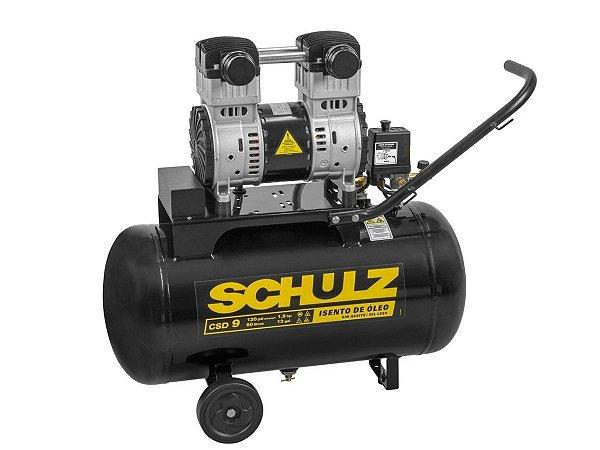 Compressor Odontológico Isento de Óleo 9 Pés 50 Litros 110V Schulz - CSD 9/50