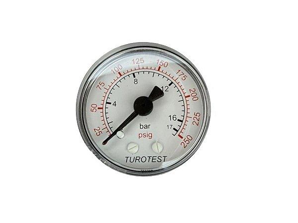 """Manômetro Horizontal 17 Bar Rosca de 1/4"""" Schulz - 011.0126-0/AT"""