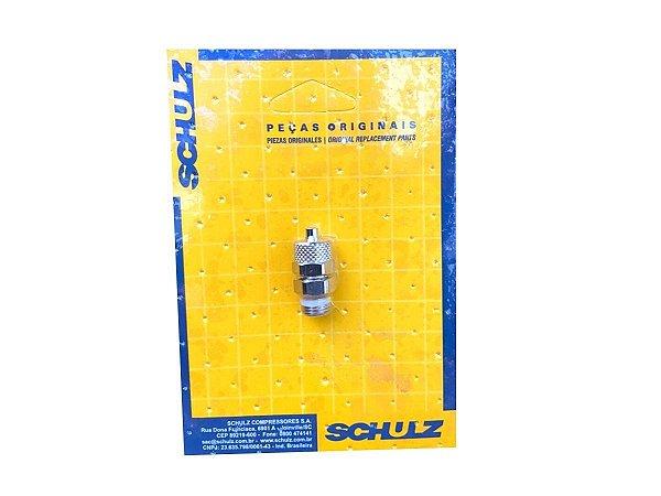 """União Reta em Latão 1/8"""" x 6mm Schulz - 003.0829-0/AT"""