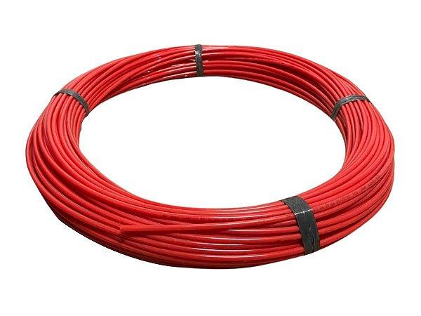 Mangueira Flexível de PU (Poliuretano) Tubo de 6mm Vermelho - 100 Metros