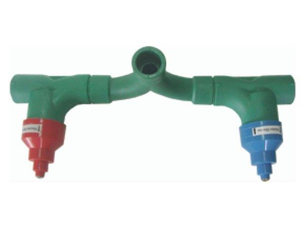 Misturador Conjunto Base 1/4 de Volta Ppr (Docol) Rede Água Quente e Fria 25mm  - Topfusion