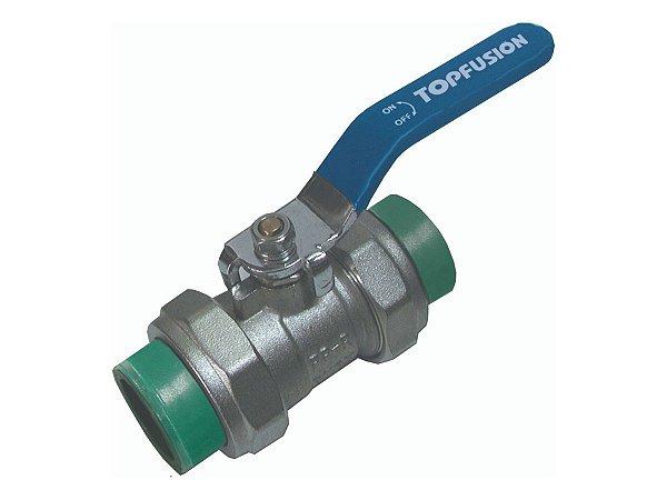Registro Esfera 50mm Ppr/Metal Para Rede de Água Quente e Fria - Topfusion