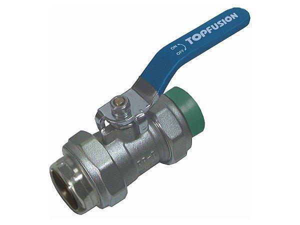 """Registro Esfera Misto 90mm X 3"""" Ppr/Metal Para Rede de Água Quente e Fria - Topfusion"""