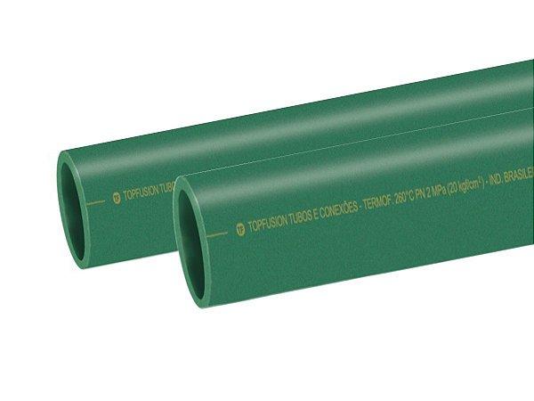 Tubo Ppr Para Rede De Água Quente 160 Mm Barra 6 Metros - Topfusion
