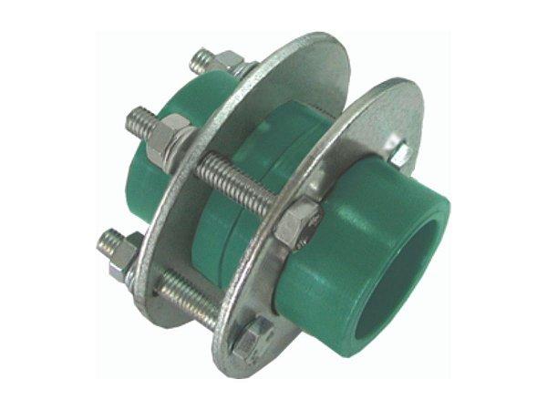 União Com Flange Ppr Rede De Água Quente e Fria 40mm - Topfusion