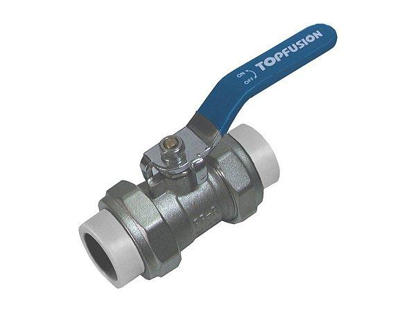 Registro Esfera 25mm Ppr/Metal Rede a Vácuo Topfusion