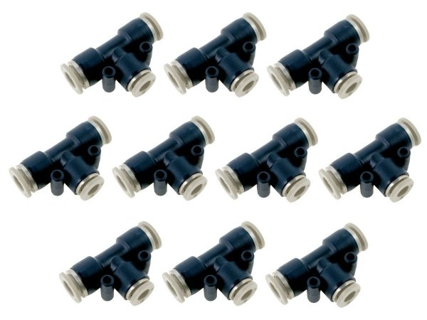Kit Com 10 Conexões Engate Rápido Pneumática União Em Te Mangueira 16mm – Werk Shott