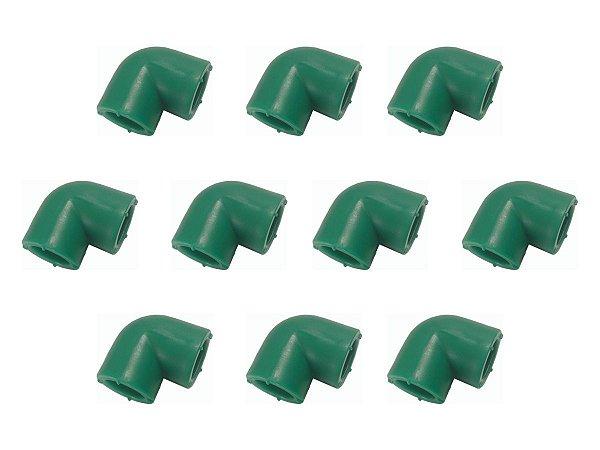 Kit Com 10 Joelhos Ppr Para Rede Água Quente e Fria 90 Graus 25 Mm Topfusion