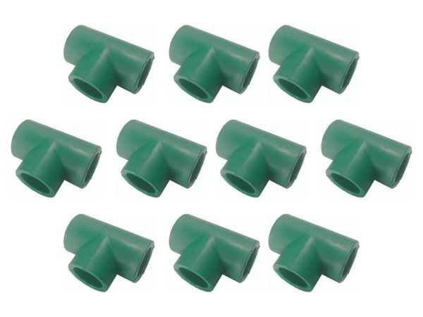 Kit Com 10 Te Ppr Para Rede De Água Quente e Fria 20 Mm - Topfusion