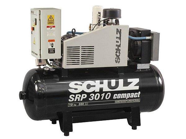 COMPRESSOR DE PARAFUSO SCHULZ - 10HP - SRP 3010-III COMPACT 200 LITROS