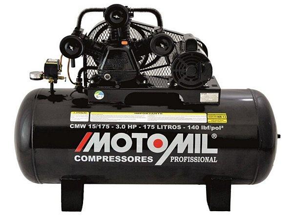 COMPRESSOR DE AR MOTOMIL - CMW-15/175I - 15 PÉS 175 LITROS 140 LIBRAS 110/220V MONO