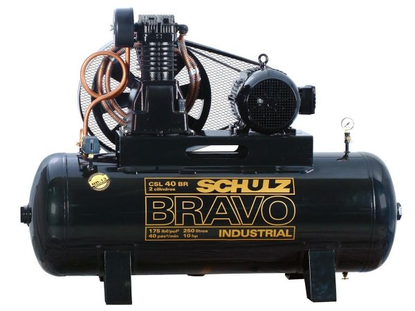 COMPRESSOR DE AR SCHULZ - CSL 40BR/250 BRAVO - 40 PES 250 LITROS 175 LIBRAS 380/660V TRIF