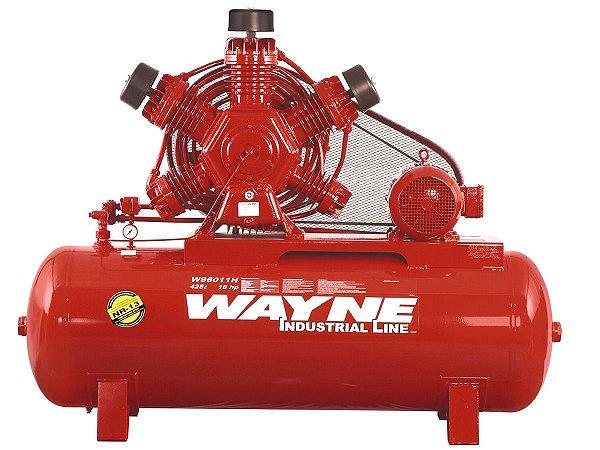 COMPRESSOR DE AR WAYNE - W900 - 60 PES 425 LITROS 175 LIBRAS 220/380V TRIF (MOTOR ABERTO)