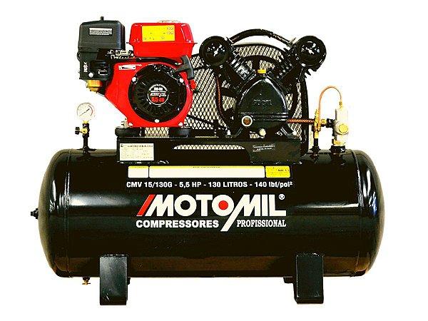 COMPRESSOR AR 15 PÉS 130 LITROS MOTOR GASOLINA MOTOMIL CMV-15/130G