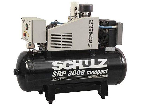 COMPRESSOR DE PARAFUSO SCHULZ SRP 3008 COMPACT 7,5HP 200 LITROS - 7.5 BAR