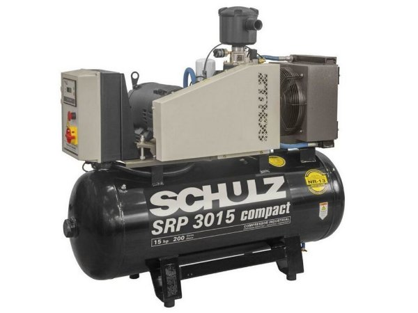 COMPRESSOR PARAFUSO SCHULZ 15HP SRP 3015-III COMPACT 200 L - 11 BAR