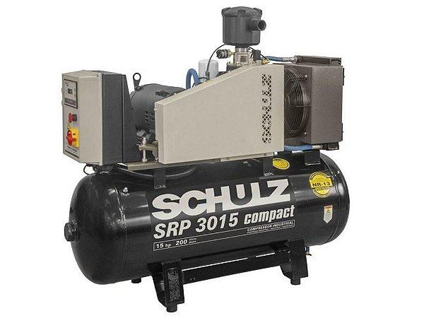 Compressor Parafuso Schulz 15hp Srp 3015-III Compact 200 L - 9 Bar