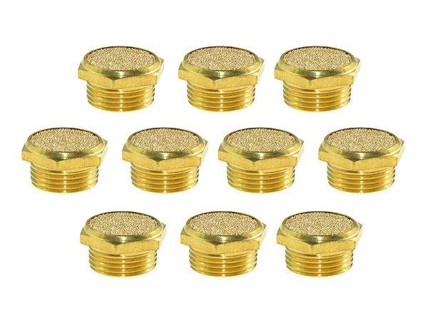 Kit com 10 Silenciadores Tampão 1/4 Pol. Bronze - Werk Schott
