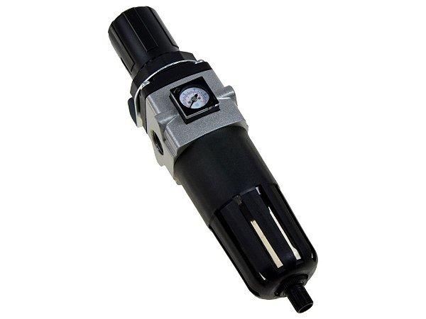 """Filtro Regulador de Ar Comprimido com Manômetro Embutido 1/2"""" - Werk Schott"""