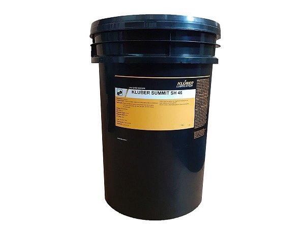 Óleo Sintético  Compressores de ar 10.000 horas 19 Litros - Kluber Summit SH 46